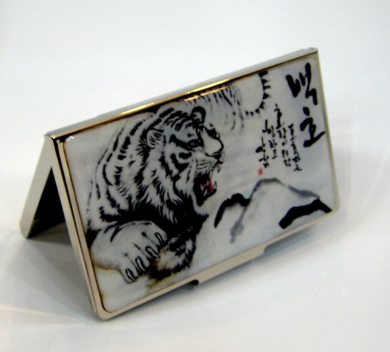 oriental business card holder christmas gift for father handcrafted with mother of pearl a5