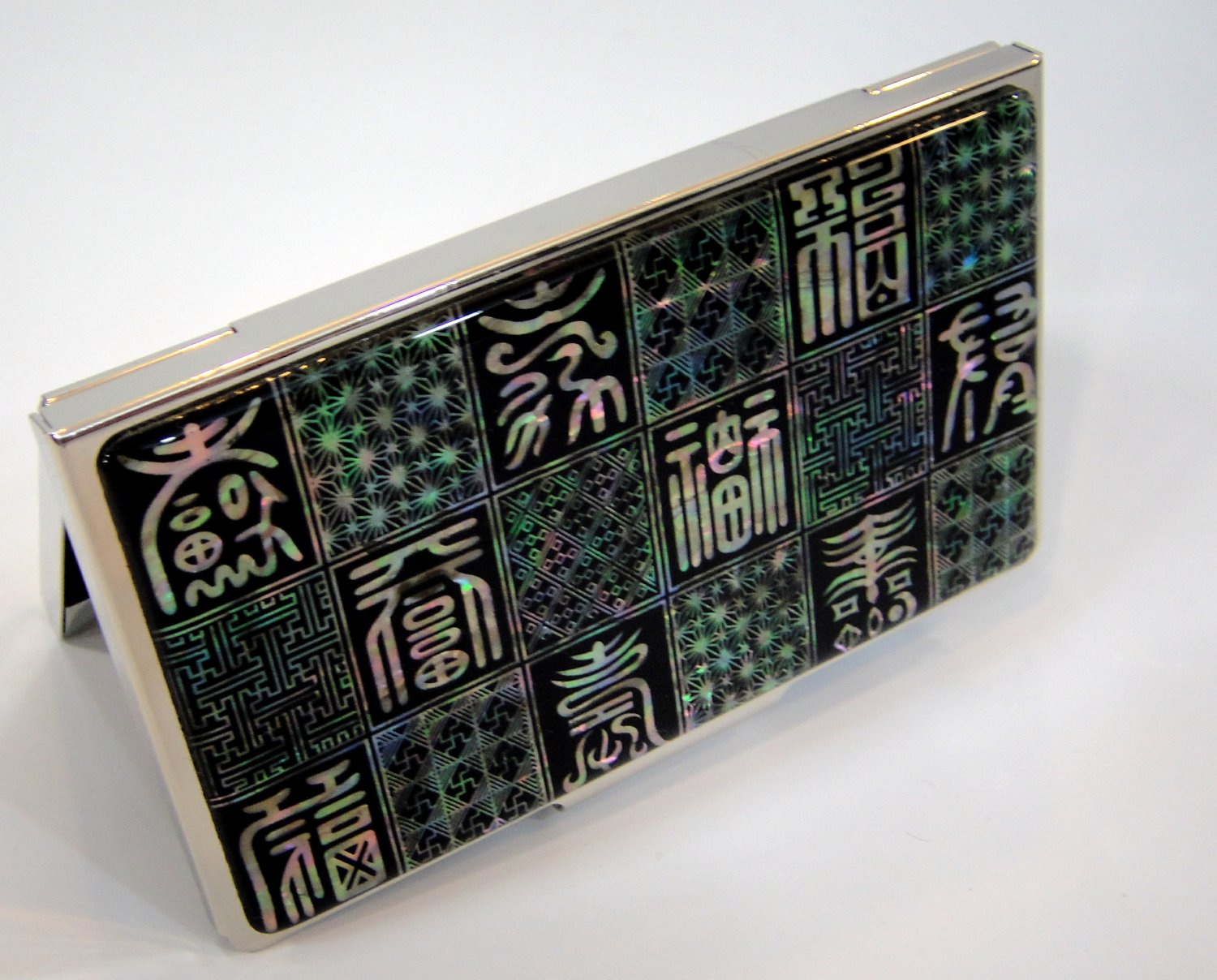 oriental business card holder christmas gift for father handcrafted with mother of pearl a8