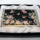 oriental lacquered  beautiful mother of pearl business card holder oriental mask a19