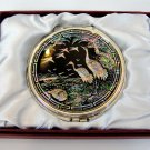 b2 oriental mother of pearl  lacquered pretty hand cosmetic mirror