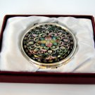 mother of pearl lacquered pretty cosmetic hand mirror b12