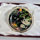 mother of pearl lacquered pretty cosmetic hand mirror b15