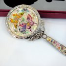 cosmetic long hand mirror mother of pearl lacquered crystal cubic c11