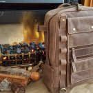GENUINE LEATHER BACKPACK Rucksack Laptop Bag Vintage Men's Travel Multi Pocket CHRISTMAS SALE