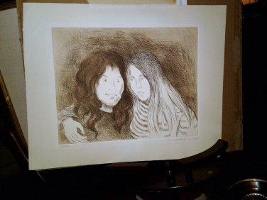 """""""Friends"""" signed & numbered Lithograph by Raphael Soyer w/COA"""