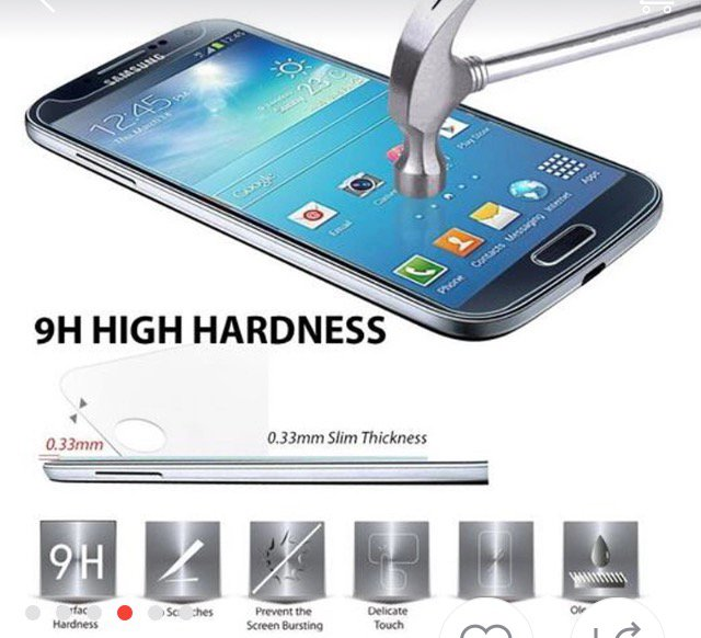 Tempered Glass Screen Protector For Samsung Galaxy CellPhones 5.1""