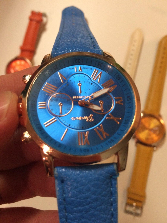 Brand Geneva Watch Women's Casual Roman Numerals Faux Leather Quartz Wrist Watches