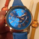 Brand Geneva Watch Women's Casual Roman Numerals Faux Leather Quartz Wrist Watches