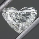 NATURAL HEART CUT SHAPE DIAMOND ENGAGEMENT COCKTAIL PENDANT 6.4MM ANNIVERSARY