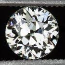 NATURAL OLD EUROPEAN CUT 1/2ct LOOSE 5mm DIAMOND I SI1 ANTIQUE OEC VINTAGE ROUND