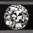 1920s VINTAGE OLD EUROPEAN CUT DIAMOND H SI2 EYE CLEAN ROUND ANTIQUE 1/2 CARAT