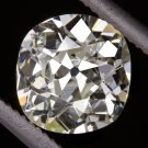 1 CARAT 1800s ANTIQUE CUSHION CUT DIAMOND OLD MINE CUT EGL-USA CERTIFIED K VS1