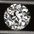 GIA CERTIFIED I VS2 OLD EUROPEAN CUT DIAMOND VINTAGE ANTIQUE 0.62ct MINE ROUND