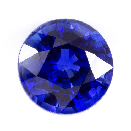 1.3 CARAT RICH ROYAL BLUE NATURAL SAPPHIRE IDEAL CUT ROUND KASHMIR 6mm APPRAISED