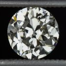 VINTAGE 1920s 0.82ct OLD EUROPEAN CUT DIAMOND K VS1 LOOSE ROUND ANTIQUE ART DECO