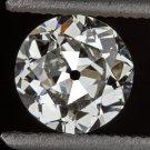 VINTAGE 0.70ct H VS2 EGL-USA CERT OLD EURO CUT LOOSE DIAMOND ENGAGEMENT ANTIQUE
