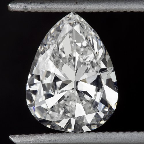 1.32ct VINTAGE DIAMOND G SI1 OLD MINE CUT PEAR SHAPE CERTIFIED ANTIQUE TEAR DROP