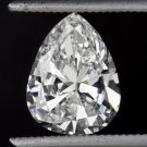 1.32ct VINTAGE DIAMOND G SI1 OLD MINE CUT PEAR SHAPE CERTIFIED ANTIQUE TEAR DROP