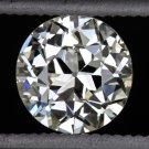 1920s VINTAGE OLD EUROPEAN CUT DIAMOND J VS2 LOOSE EGL-USA CERTIFIED 3/4ct ROUND