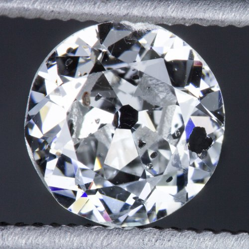 0.67ct RARE D COLOR OLD EUROPEAN CUT 5.8mm DIAMOND VINTAGE ESTATE COCKTAIL ROUND
