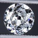 0.67ct RARE D COLOR OLD EUROPEAN CUT 5.8mm DIAMOND VINTAGE ESTATE COCKTAIL ROUND