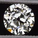 VINTAGE OLD EUROPEAN CUT LOOSE DIAMOND I SI1 ROUND MINE ESTATE ANTIQUE COCKTAIL