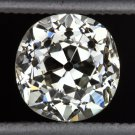 1.11 CARAT VERY GOOD CUT VINTAGE OLD EUROPEAN DIAMOND ANTIQUE CERTIFIED CUSHION