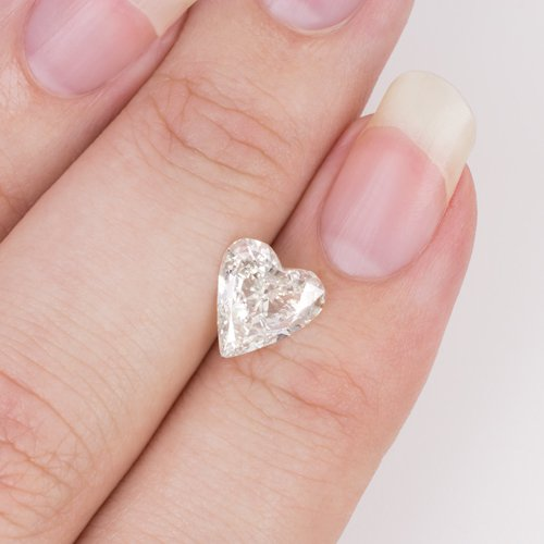 1.39c FANCY HEART SHAPE DIAMOND I SI1 EGL-USA CERTIFIED 8.8mm ENGAGEMENT PENDANT