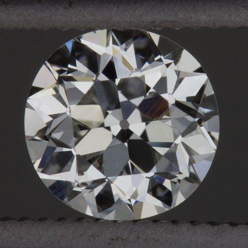 1900s F VS OLD EUROPEAN CUT DIAMOND VINTAGE EGL-USA CERT 1/2ct ROUND LOOSE MINER