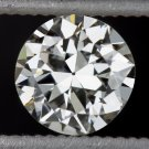 GIA CERTIFIED G VS1 OLD EUROPEAN CUT DIAMOND VINTAGE ANTIQUE 1/2 CARAT 20s ROUND