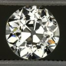 VINTAGE 0.61ct H VS2 OLD EUROPEAN CUT DIAMOND EGL-USA CERT LOOSE ROUND ANTIQUE