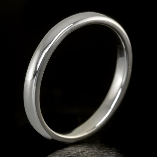 CLASSIC 14K WHITE GOLD WEDDING BAND 2.5mm STACKABLE COCKTAIL RING SIZE 5 2 GRAMS