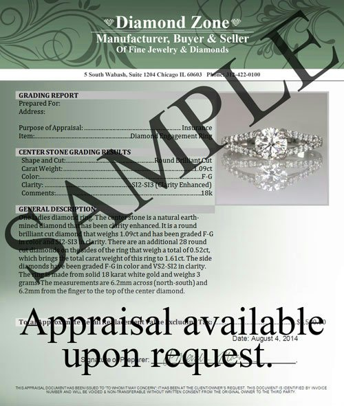 JEWELRY APPRAISAL FOR OUR ITEMS - MYDIAMONDZONE