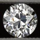 H VS1 VINTAGE OLD EUROPEAN CUT DIAMOND 1/2 CARAT LOOSE ROUND ESTATE 20s ANTIQUE
