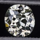 ANTIQUE OLD MINE CUSHION CUT OVAL DIAMOND ESTATE VS VINTAGE LOOSE 1/2 CARAT EURO