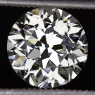 1.65ct VINTAGE OLD EUROPEAN CUT DIAMOND EGL-USA CERTIFIED ANTIQUE ART DECO ROUND
