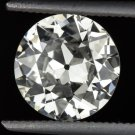1.50 CARAT I SI1 OLD EUROPEAN CUT DIAMOND 7.7m EGL-USA CERTIFIED VINTAGE ANTIQUE