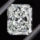 1/2 CARAT F SI1 EGL-USA LOOSE RADIANT CUT DIAMOND CERTIFIED RECTANGLE PRINCESS