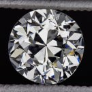 EGL-USA CERTIFIED H VS1 VINTAGE OLD EUROPEAN CUT DIAMOND 3/4ct ROUND ANTIQUE