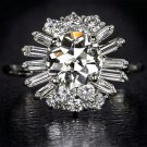 2.4ct DIAMONDS OLD EUROPEAN CUT EGL-USA CERTIFIED VINTAGE ENGAGEMENT RING MINER