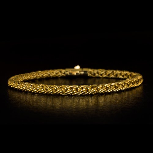 TIFFANY & COMPANY VINTAGE 18 KARAT YELLOW GOLD ROPE BRACELET 7 INCH 13.5 GRAMS