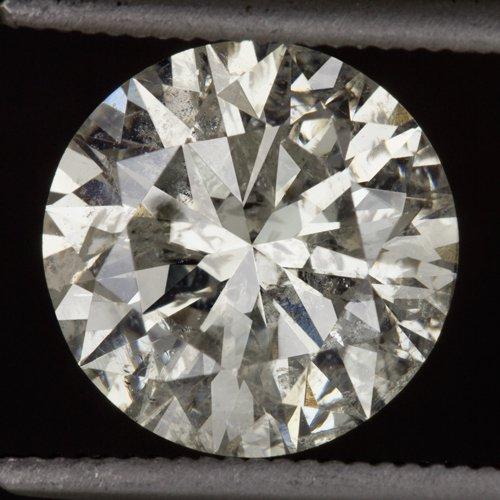 2.35ct EXCELLENT CUT ROUND BRILLIANT DIAMOND 8.4mm NATURAL UNTREATED 2 CARAT BIG