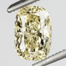 GIA CERTIFIED 1 CARAT FANCY YELLOW CUSHION CUT DIAMOND RECTANGLE LOOSE HALO RING