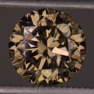 1.50 CARAT FANCY CHAMPAGNE C7 CHOCOLATE ROUND NATURAL DIAMOND BROWN COGNAC REAL