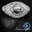 1C ART DECO SEMI MOUNT ROUND STONE DIAMOND ANTIQUE FILIGREE VINTAGE SETTING RING