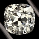 2.26ct ANTIQUE OLD MINE CUSHION CUT DIAMOND EGL-USA CERTIFIED VS2 VINTAGE SQUARE