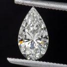 GIA CERTIFIED 0.62ct G VS1 PEAR SHAPE DIAMOND TEAR DROP VERY GOOD CUT NO FLOUR
