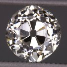 1.02c ANTIQUE J Si1 OLD MINE CUT DIAMOND EGL-USA CERTIFIED LOOSE VINTAGE CUSHION
