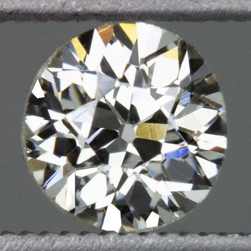 VINTAGE K VS ROUND 0.60ct DIAMOND LOOSE OLD EUROPEAN CUT ANTIQUE OEC 1/2 CARAT