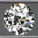 VINTAGE K VS ROUND 0.60ct DIAMOND LOOSE OLD EUROPEAN CUT ANTIQUE OEC 1/2 CARAT